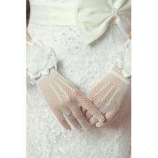 Mănuși de nuntă flori toamna negru elegant multifuncțional