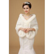 Nunta șal rășină blană în aer liber romantic regal
