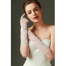 Mănuși de fildes de nunta dantelă țesătură dantelă umbră cădea sexy