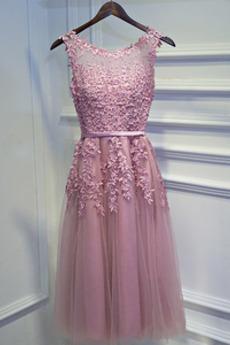 Rochie de domnişoară de onoare Fermoar Elegant A-linie Afișează
