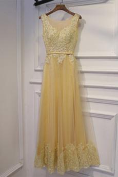 Rochie de domnişoară de onoare Epocă Nuntă Vară Talie naturală