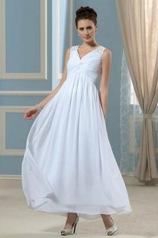 Rochie de seara Nuntă Elegant Lungimea ceaiului Corsetul plisate