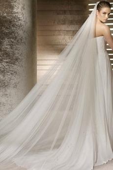 Rochia de mireasa rochie de mireasa voal moale de 3 metri lungime și două voal moale strat