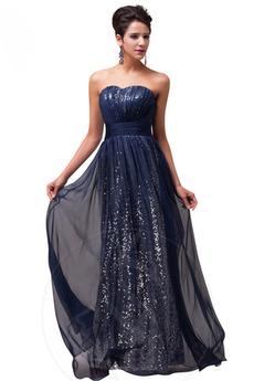 Rochie de seara Mătura Corsetul sequined Elegant Fără spate Drapat