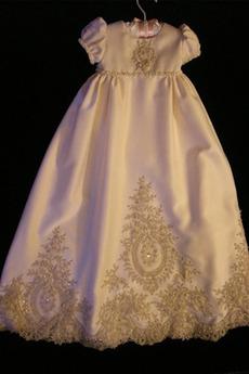 Rochie de botez Conservatie Dantela Lung Mare acoperit Prințesă