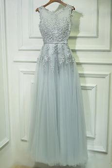 Rochie de domnişoară de onoare Talie naturale Appliqué Elegant