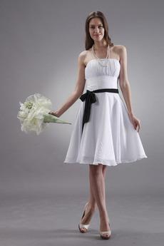 Rochie de domnişoară de onoare Şifon Fără mâneci Talie naturală