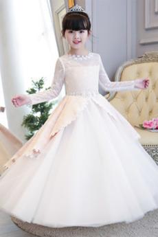 Rochie florăreasă Tul Arc accentuată Umflat Bijuterie Fermoar