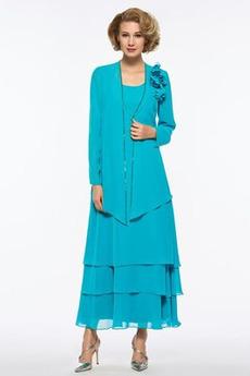Rochie de mama Sifon Lungime de glezna linguriță Tricou A-linie