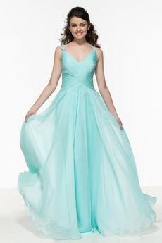 Rochie de bal Danila A-linie Primăvară V gâtului Elegant Talie naturale