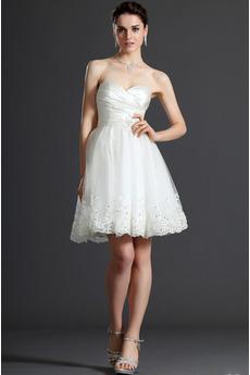 Rochie de mireasa Dantelă Prințesă Mijlocul spatelui Scurt Pară