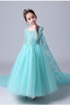 Rochie florăreasă Elegant Iluzia mâneci Primăvară Mâneci lungi