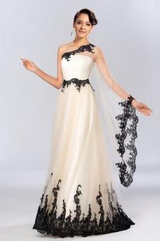 Rochie de seara Talie naturale Mijlocul spatelui Lungime de glezna