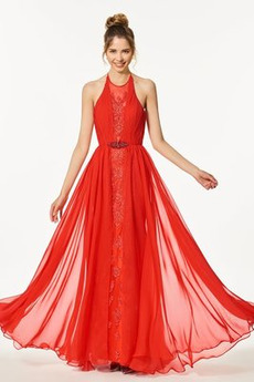 Rochie de bal Fermoar Pară Talie naturală A-linie Etaj lungime