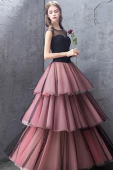 Rochie de bal Talie naturale Elegant Bandaj A-linie Minge Satin