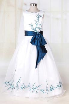 Rochie florăreasă Prințesă Talie Scăzut Fără mâneci Bateau Romantice