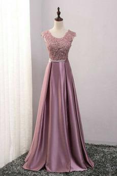 Rochie de domnişoară de onoare Luxos Etaj lungime Banchet Dantela