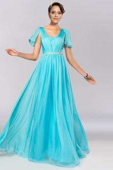 Rochie de bal Elegant Fermoar Talie naturale Curea cu margele