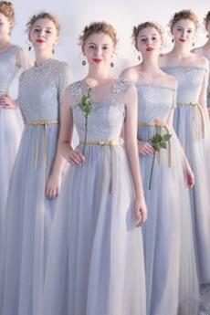 Rochie de domnişoară de onoare Dantelă Elegant Mediu Dantela