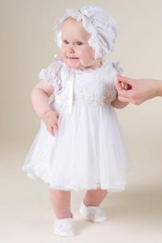 Rochie de botez Capac/pălărie Nuntă Toamnă Suprapunere de dantela