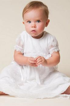 Rochie de botez Lanternă Etaj lungime Tul Primăvară Bijuterie