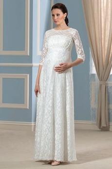 Rochie de mireasa Bijuterie Tricou Esarfe Etaj lungime Arc accentuată