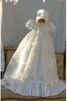 Rochie de botez Înalt acoperit Formale Dantelă Capac/pălărie