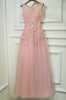 Rochie de domnişoară de onoare Minion Talie naturale Nuntă Vara