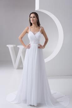 Rochie de mireasa Vara Etaj lungime Curele late Romantice Ciubuc