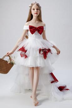 Rochie florăreasă Mâneci plafonate Mâneci scurte Minge Asimetric