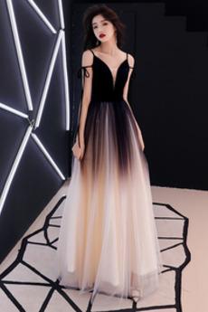 Rochie de bal Elegant Fără mâneci Tul A-linie Lungime de glezna