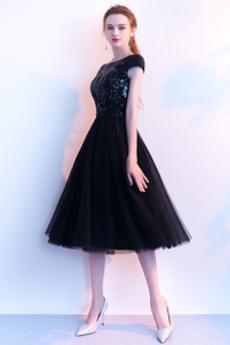 Rochie de bal Talie naturală A-linie De pe umăr Mâneci plafonate