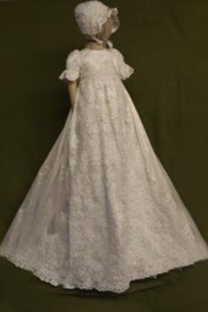 Rochie de botez Primăvară Conservatie Prințesă Satin Mâneci scurte