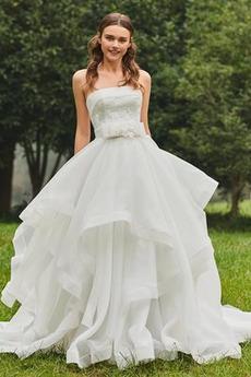 Rochie de mireasa Fără curele Talie naturale În aer liber Curte