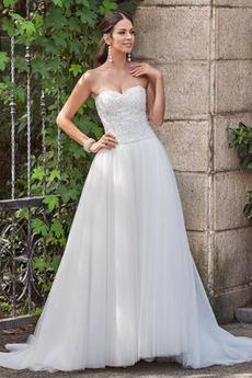 Rochie de mireasa Fara spate Elegant Talie naturale Curte În aer liber