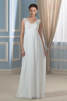 Rochie de seara Marime mare Etaj lungime Banchet Simplu Arc accentuată