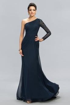 Rochie de seara Dantelă Dantela Mijlocul spate Un umăr Elegant