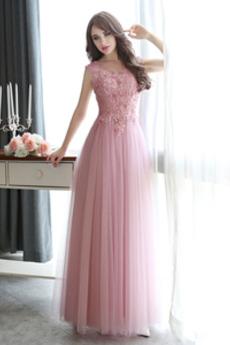Rochie de domnişoară de onoare Fără mâneci Elegant Bateau A-linie