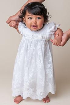 Rochie de botez Prințesă Talie imperiu Tul Vacanţă Lungime de glezna