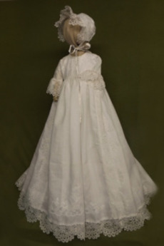 Rochie de botez Bijuterie Dantela Butonul Printesa Formale Vară