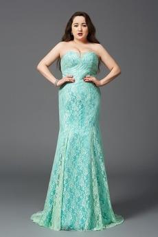 Rochie de seara Sirenă Etaj lungime Fermoar Fără curele Dantela