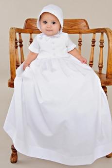 Rochie de botez Satin Lung Printesa Mare acoperit Banchet Butonul