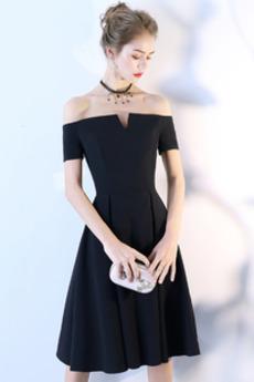 Rochie de cocktail Mingea Genunchi lungime Elegant Mâneci scurte