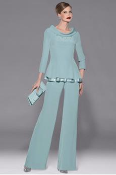 Rochie de mama cu pantaloni Primăvară Costum Bateau Niveluri
