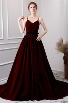 Rochie de bal Marime mare Fără mâneci Lung Primăvară Corsetul plisate