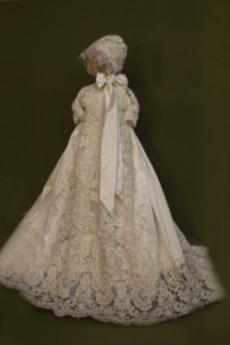 Rochie de botez Vacanţă Lung Talie naturală Mare acoperit Ciubuc