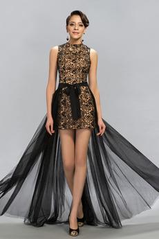 Rochie de bal Vara Negru înalt Mediu Fără spate Talie naturală