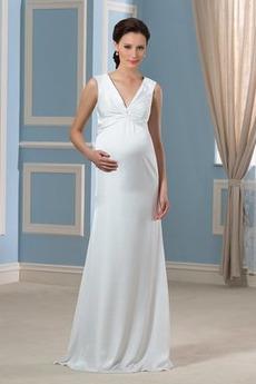 Rochie de mireasa Mătura Elegant Sifon Fără mâneci Marime mare