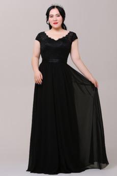 Rochie de bal Primăvară Dantela V gâtului Afișează Lungimea podelei