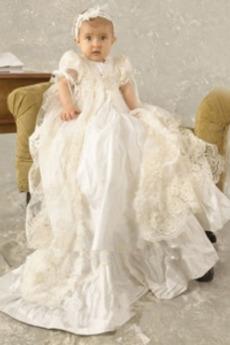 Rochie de botez Dantela Formale Lung Minion Ceremonie Vară Prințesă